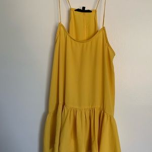 Yellow Spaghetti Strap Top